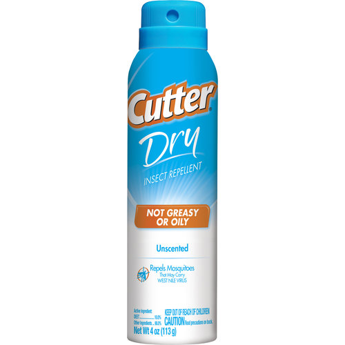 Cutter Dry Insect Repellent Unscented (Aerosol), 4-Ounces