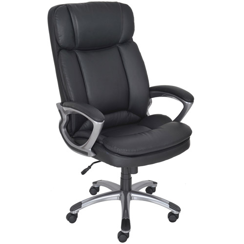 Serta Executive Big & Tall PureSoft Office Chair, Smooth Black