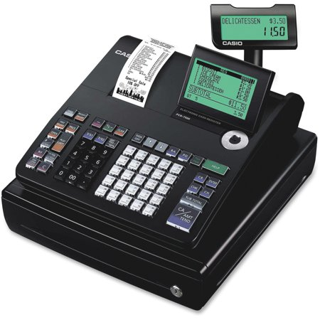 Casio One Sheet Thermal Cash Register With 10 Line Lcd Cashier Display Model Pcr T500