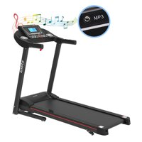 The Power Wear 2 HP Folding Electric Motorized Treadmill with Manual Incline & Air Spring & MP3