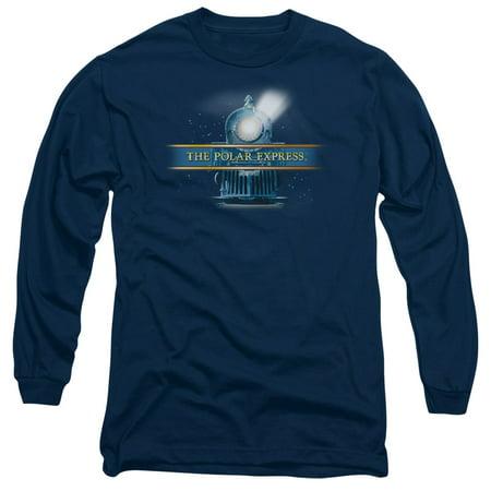 Polar Express - Train Logo - Long Sleeve Shirt - Large Train Mens Tee