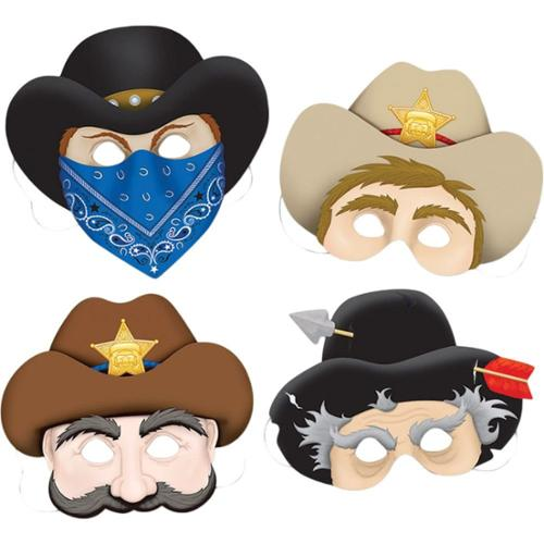 Western Masks (4 Pack) - Party Supplies