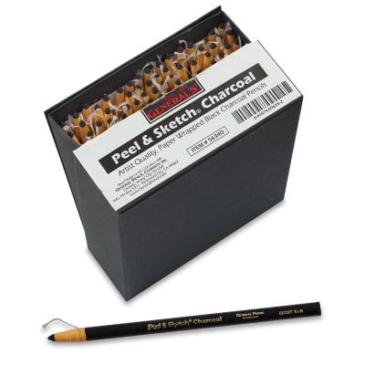 Charcoal Pencil Sketches - General's Peel and Sketch Charcoal - Medium, Single Pencil