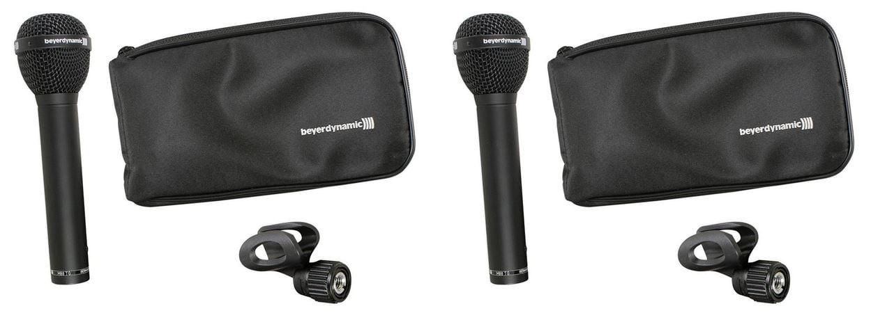(2)Beyerdynamic M88TG M88 TG Hyper-Cardioid Dynamic Microphone Mic w  Clamp +Bag by Beyerdynamic