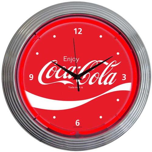 Neonetics Drinks 15'' Coca Cola Wave Wall Clock