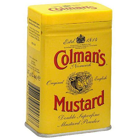 Colman's Of Norwich Hot Dry Mustard, 2 oz (Pack of 12) - Walmart.com