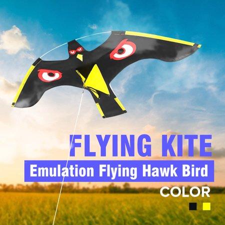 Black Bird Scarer Flying Hawk Kite For Garden Scarecrow Yard House Decor - Scarecrows For Sale