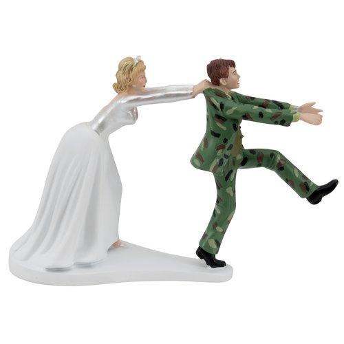 Wilton Bride and Groom Cake Topper, Camouflage