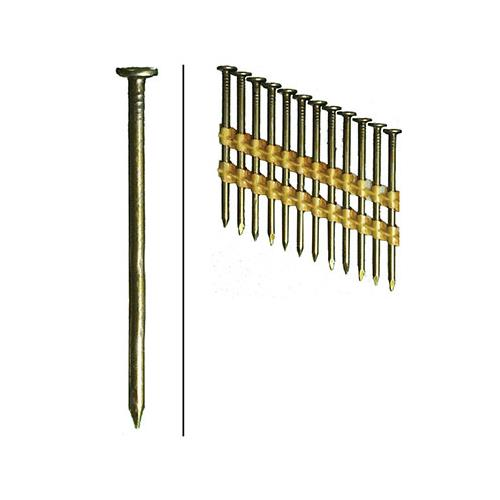 Hillman Fasteners 461738 Framing Nails, Plastic Strip, Smooth, Brite, 2-3/8-In. x .113, 5,000-Ct.