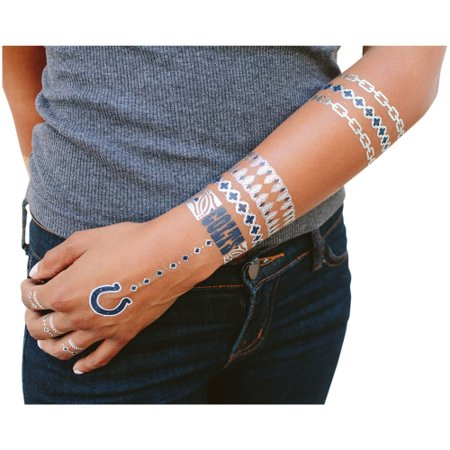 Indianapolis Colts Metallic Fashion Tattoos - No (Fashion Indianapolis)