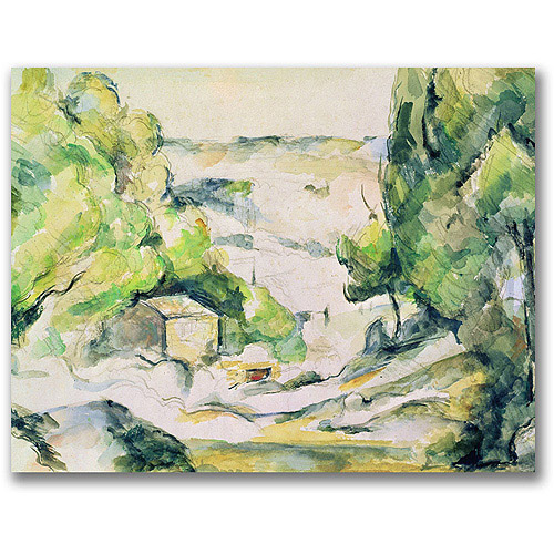 "Trademark Fine Art ""Countryside in Provence"" Canvas Wall Art by Paul Cezanne"