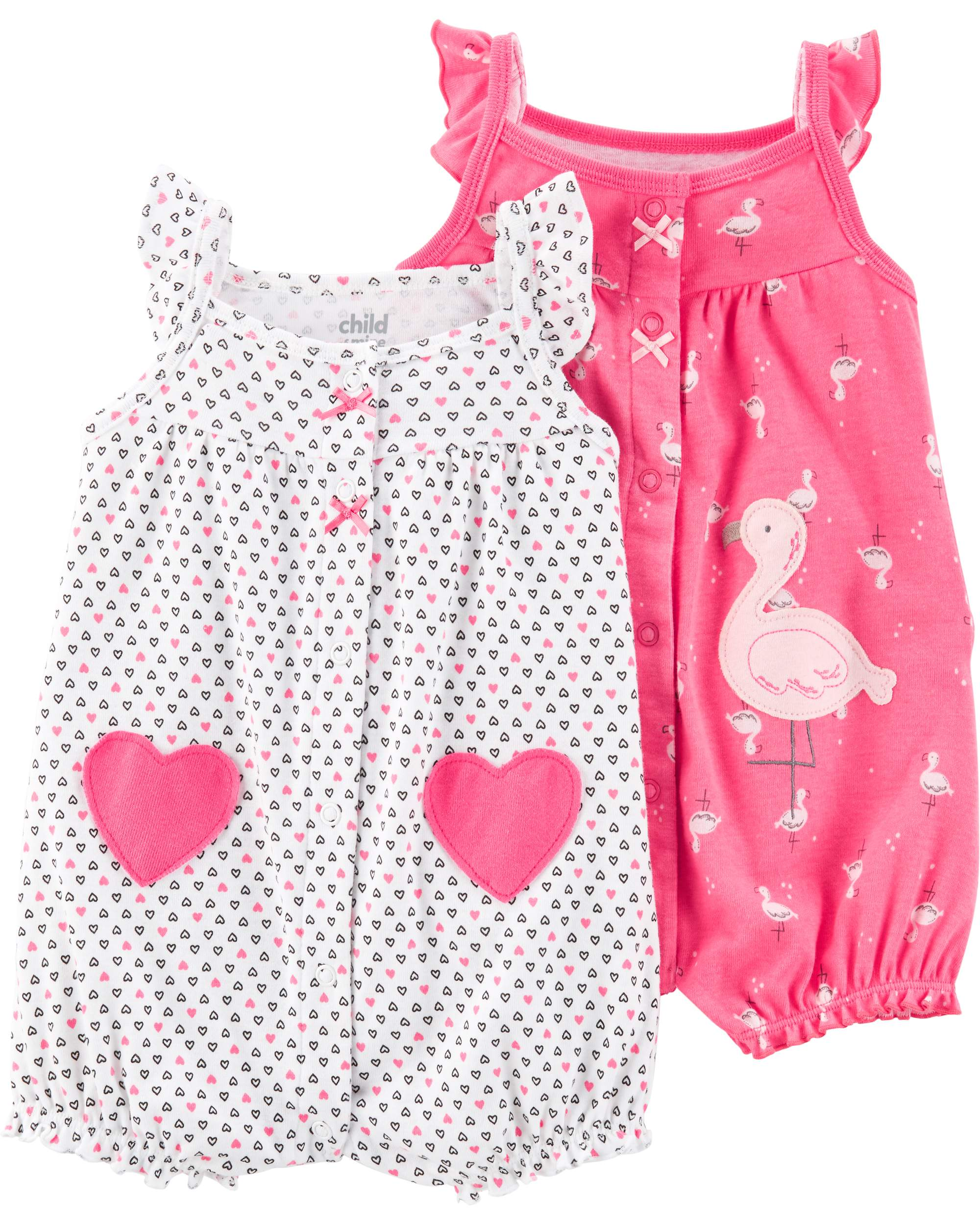 d520f4ee2 Child of Mine by Carter's - Snap up romper, 2- pack (Baby Girls ...