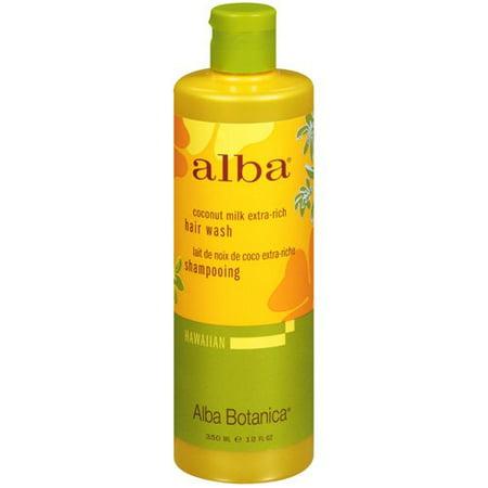 Alba Botanica Gentle Shampoo (Alba Botanica Hawaiian Moisturizing Shampoo, Coconut Milk, 12 oz )