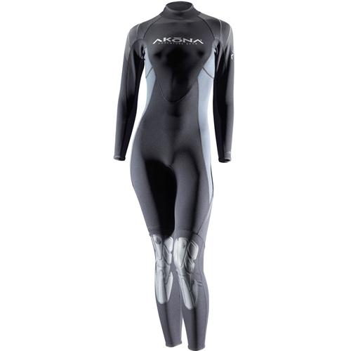AKONA Womens 1mm Wetsuit (Black, 7-8)