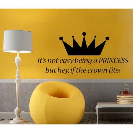 Stickalz Llc It S Not Easy Being A Princess Wall Words Vinyl Sticker