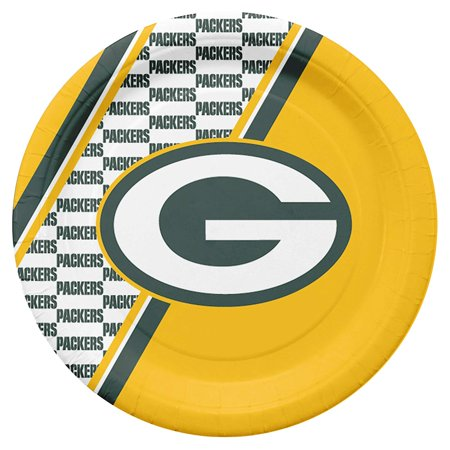 Nfl Duck - NFL Green Bay Packers Disposable Paper Plates, Pack of 20, 10 inch disposable paper plates, pack of 20 By Duck House