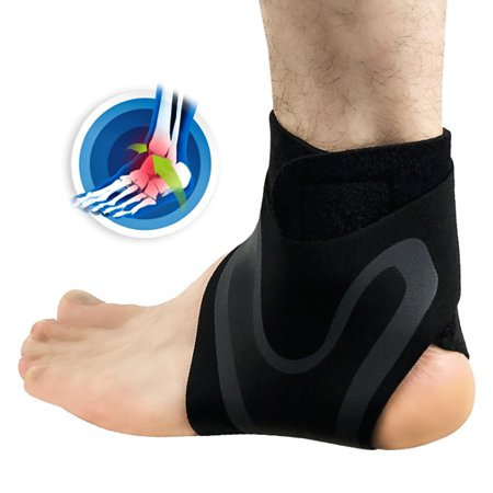 Ankle Brace Support Adjustable Sports Fitness Ankle Stabilizer Compression Ankle Protective Brace Wrap for Men (Best Compression Ankle Supports)