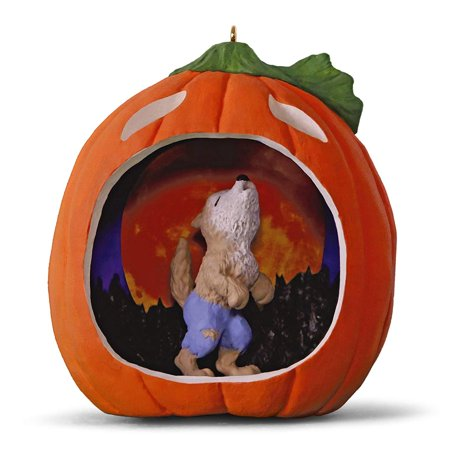 Happy Halloween! Werewolf Halloween Ornament keepsake-ornaments Animals & - Happy Halloween Workplace