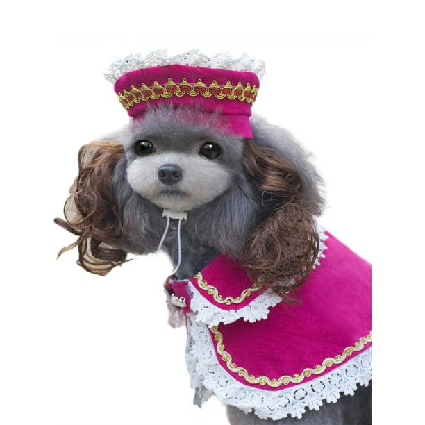 Dymade Princess Prince Adorable Pet Costume Cloak Sets With Hat Wig Cute Dog Cat Pets Cosplay Clothes Walmart Com Walmart Com