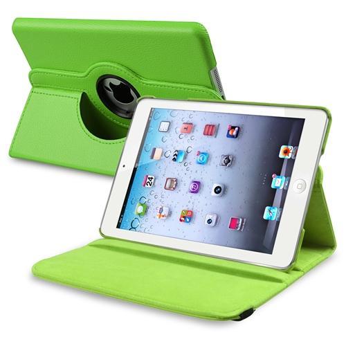 Insten 360-degree Swivel Leather Case For Apple iPad Mini 3 3rd / 2 2nd with Retina Display / iPad Mini 1 1st Gen, Green