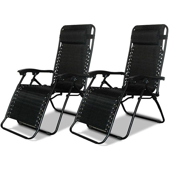 XtremepowerUS Set Of 2 Patio Zero Gravity Chair Folding L...