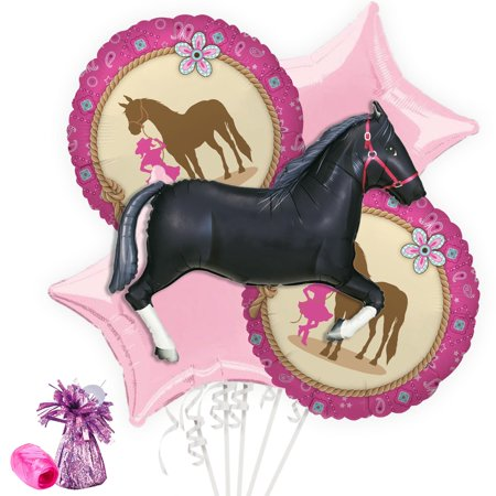 Western Cowgirl Party Balloon Bouquet Kit