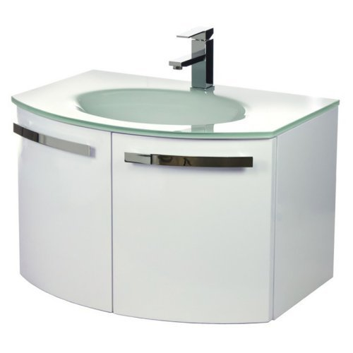 ACF by Nameeks ACF CD04-GW Crystal Dance 28-in. Single Bathroom Vanity Set - Glossy White