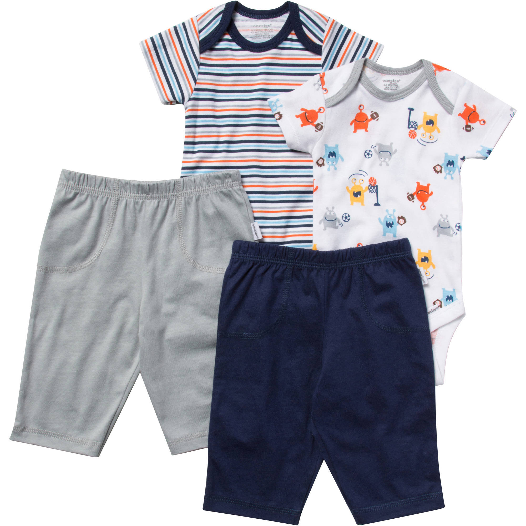 Onesies Brand Newborn Baby Boy Layette Set, 4-Piece
