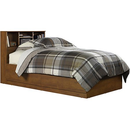 Mainstays Twin Storage Bed, Hazelwood - Mainstays Twin Storage Bed, Hazelwood - Walmart.com