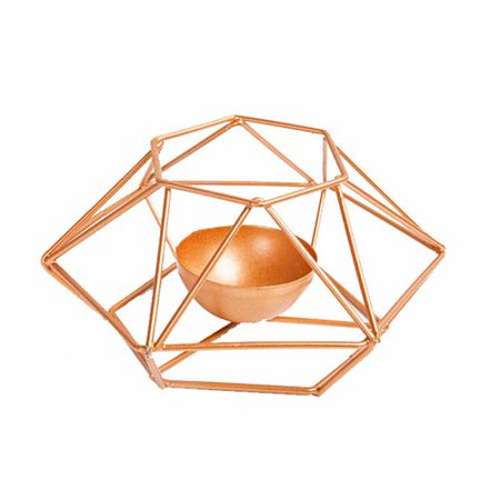 AkoaDa Gold Color Pillar Candle Holder Geometric Tealight Holders Small Metal Candlestick Centerpieces for Wedding Cool Small Candlestick