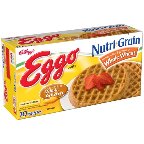 Kellogg's Eggo Nutri-Grain Whole Wheat Waffles, 10 count