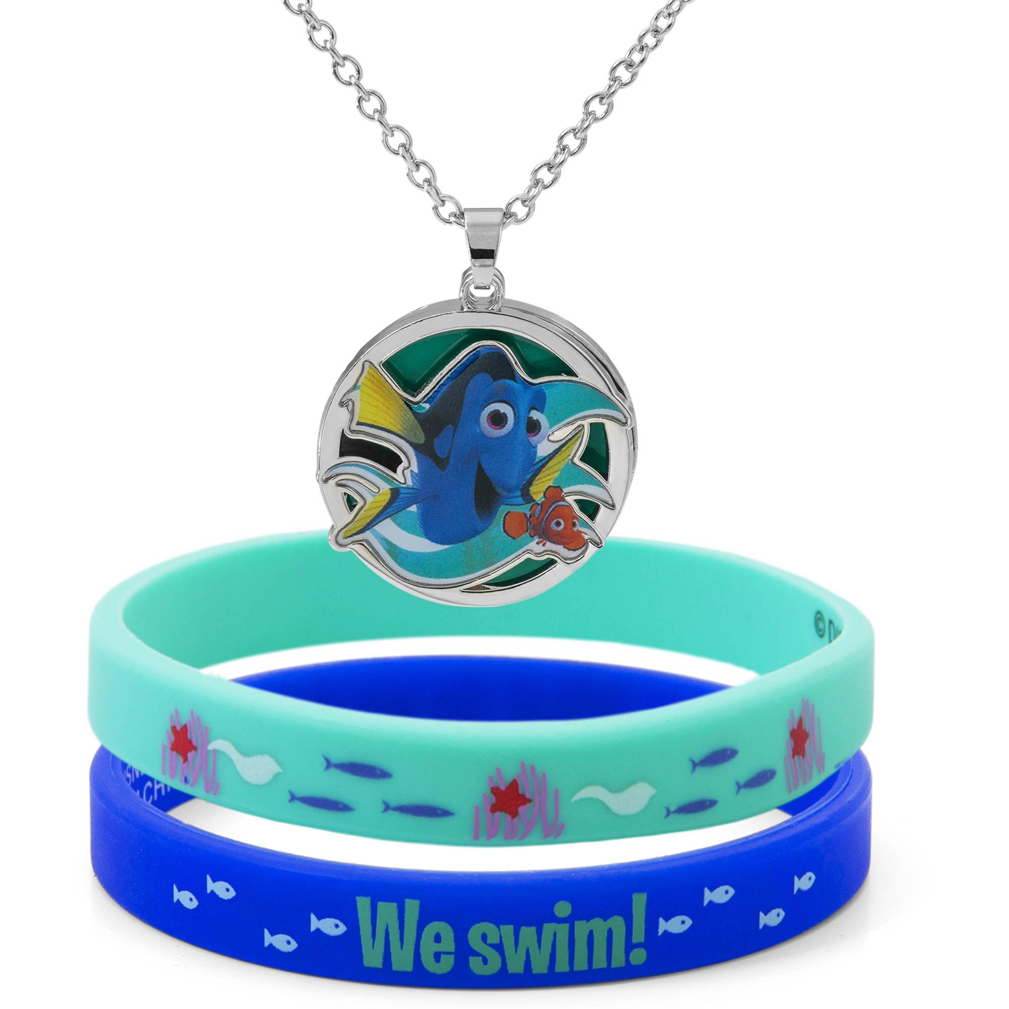 Disney Finding Dory Pendant & Bracelet Set