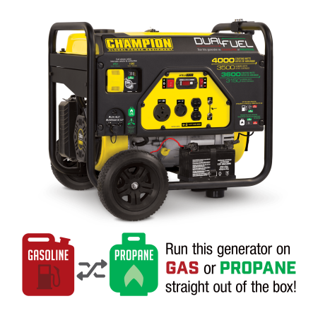 Champion 100397 3500-Watt Dual Fuel Portable Generator ()