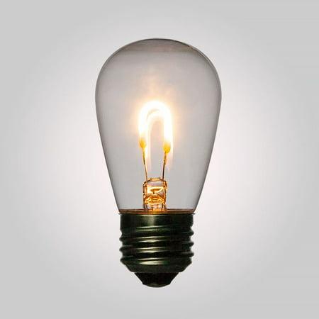Fantado LED Filament S14 Shatterproof Light Bulb, Dimmable, 2W, E26 Medium Base by