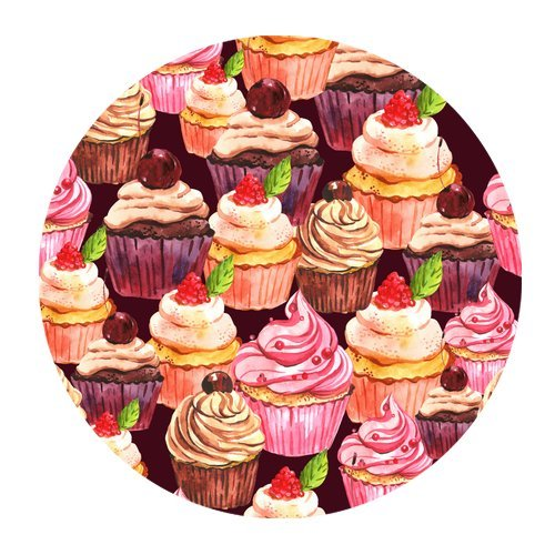 MKHERT Art Painting Ice Cream Cakes Round Mousepad Mat For Mouse Mice Size 7.87x7.87 inches