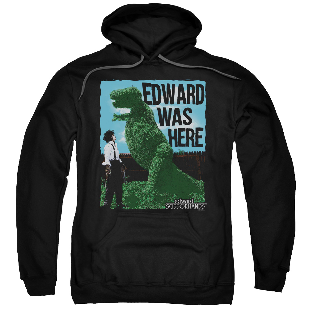 EDWARD SCISSORHANDS/EDWARD WAS HERE-ADULT PULL-OVER HOODIE-BLACK-SM