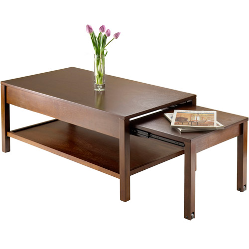 Expandable Coffee Table Alluring Brandon Expandable Coffee Table Antique Walnut  Walmart Decorating Inspiration