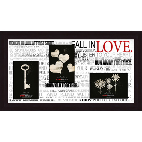 "Fall In Love III 20"" x 10"" Collage Picture Frame"