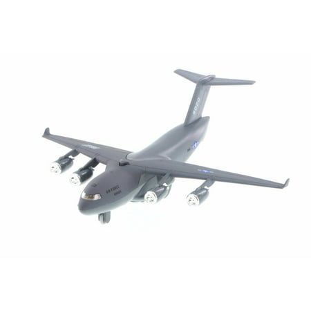 C-17 Boeing Globemaster Pullback Plane, Gray - Daron TM9020 - Diecast Model Military Vehicle (Brand New BUT NO BOX)
