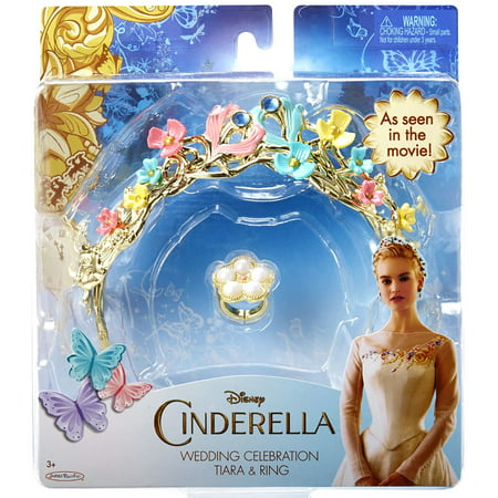 CINDERELLA LIVE ACTION 82056 Wedding Celebration Tiara and Ring - Costumes Com