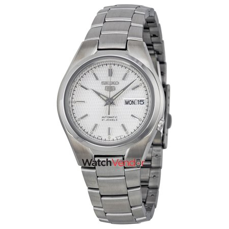 7f3e396213f Seiko 5 Automatic Silver Dial Stainless Steel Men s Watch SNK601 - image 2  ...