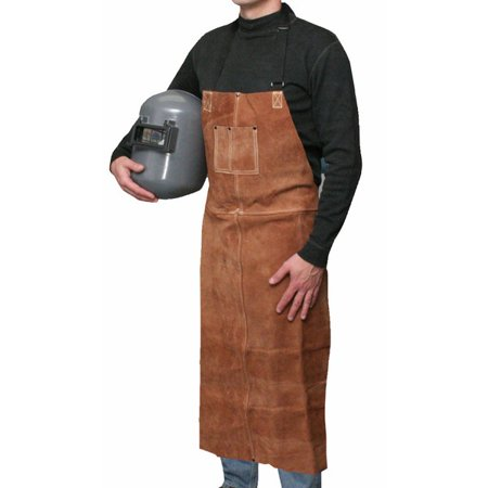 Bob Dale 60-1-542 Welding Apron Leather Bib Apron 24x42 Brown (Pack of 25)