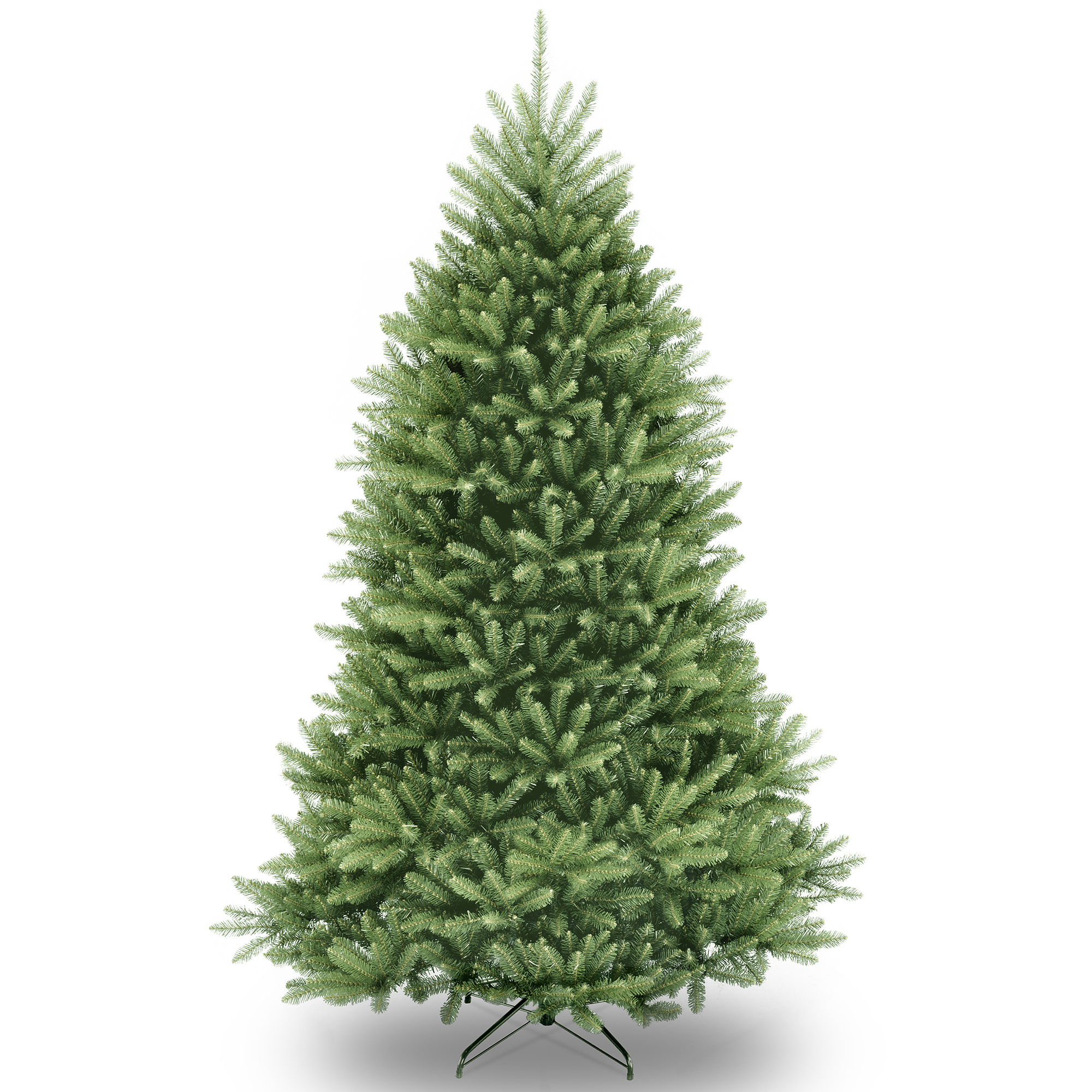 National Tree Unlit 7-1/2' Dunhill Fir Hinged Artificial Christmas Tree