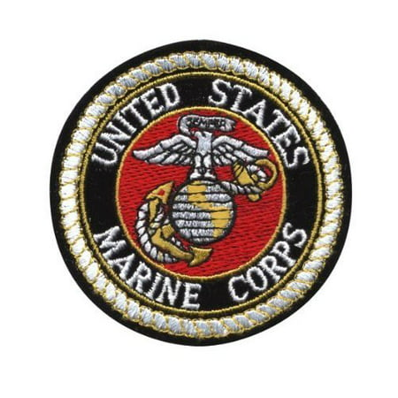 Deluxe US MARINE CORPS USMC Logo Sew On 3 Inch Patch ()