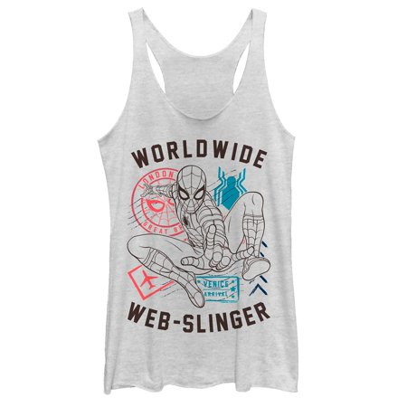 Marvel Women's Spider-Man: Far From Home Worldwide Icons Racerback Tank