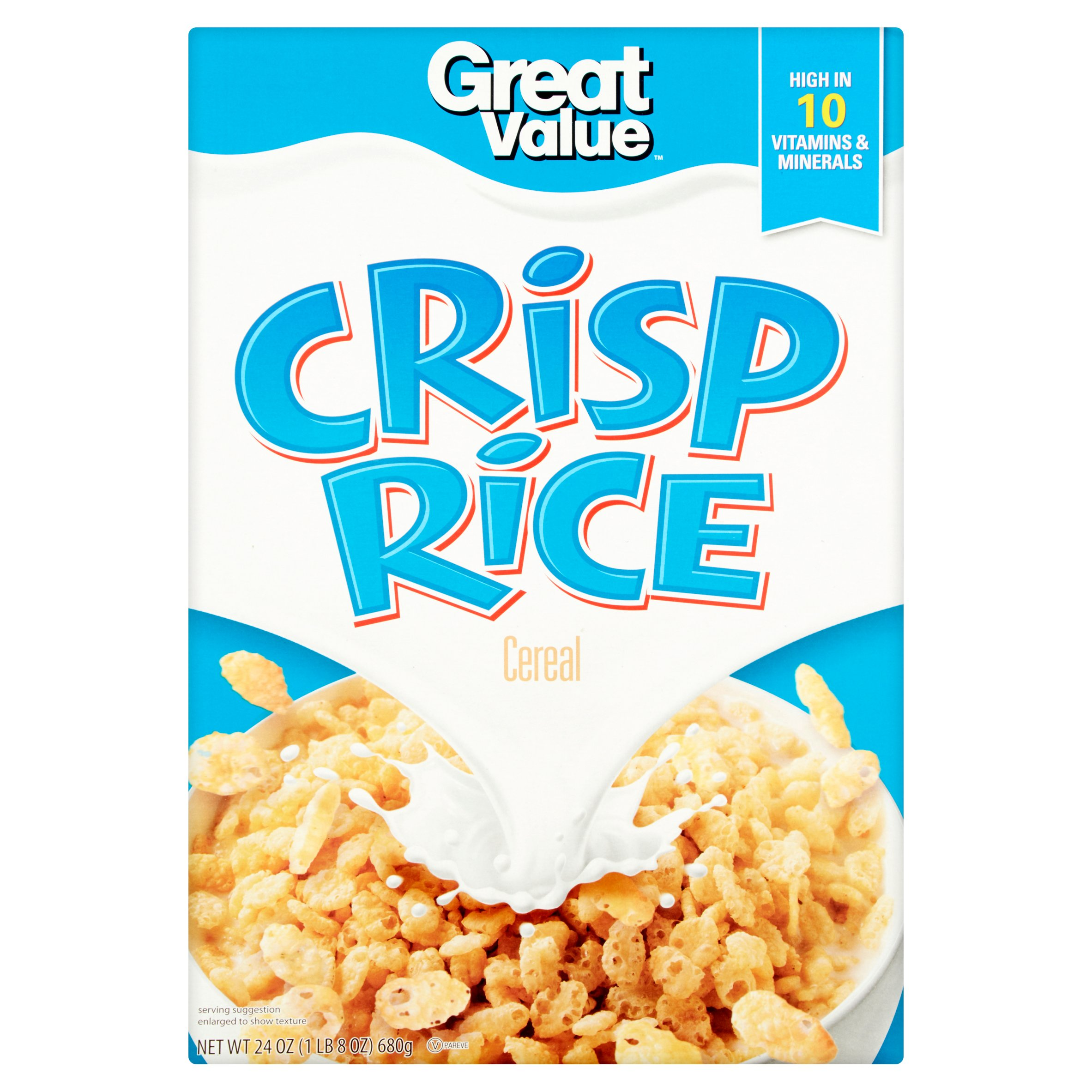 Great Value Breakfast Cereal, Rice Crispers, 24 Oz