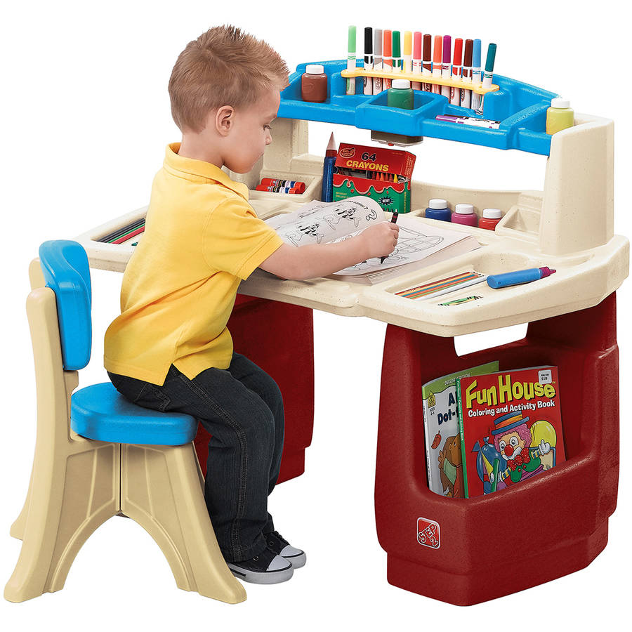 Step2 Deluxe Art Master Desk comes with a Comfortable New Traditions Chair  sc 1 st  Walmart & Kid Art Easels u0026 Stations - Walmart.com islam-shia.org
