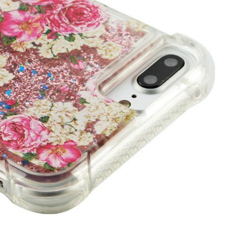 Insten Luxury Quicksand Glitter Liquid Floating Sparkle Bling Fashion Phone Case Cover for Apple iPhone 8 plus / 7 plus / 6s plus - Rose - Rose Gold - image 3 of 5