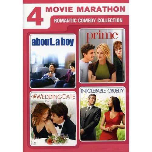 4 Movie Marathon: Romantic Comedy Collection - About A Boy / Prime / Intolerable Cruelty / The Wedding Date (Anamorphic Widescreen)