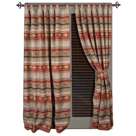 Carstens Inc. Flying Horse Rodeo Western Thermal Single Curtain -